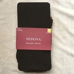 MERONA Brown Opaque Tights- S/M